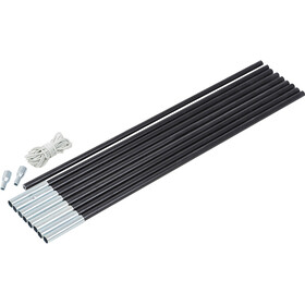 CAMPZ Zestaw pałąków z włókna szklanego 11mm x 4,55m, black